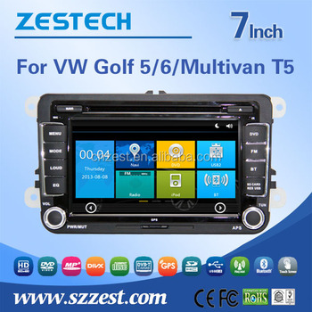 in dash 2 din car dvd gps for vw golf 5/6/multivan t5 double din car