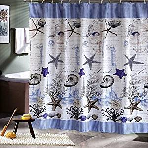 Extra Long Fabric Shower Curtain Waterproof Mildew Proof Bathroom Curtains