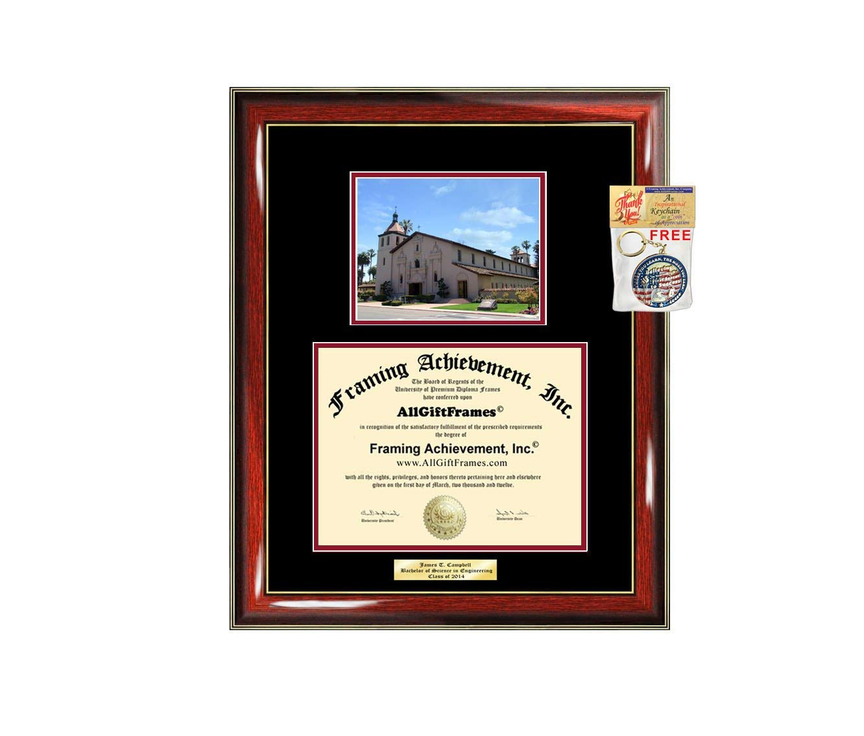 Get Quotations · Diploma Frame Santa Clara University Law School Juris  Doctor Graduation Gift Idea Engraved Picture Frames Engraving