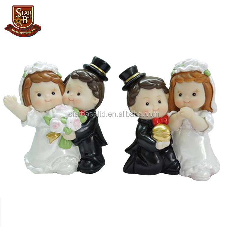 Custom made new style resin wedding couple souvenirs figurines