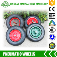 16 inch trolly wheel rubber wheel with metal plastic rims