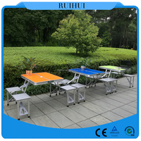 Easy folding up multi purpose folding work table for outdoor and indoor