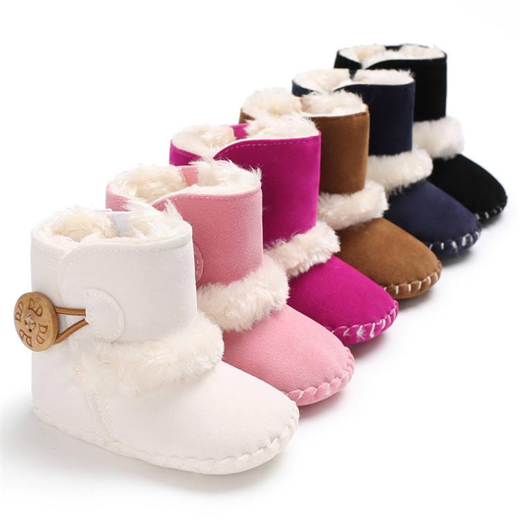 2020 winter wholesale Warm plush 0-2 years prewalker outdoor baby boots booties