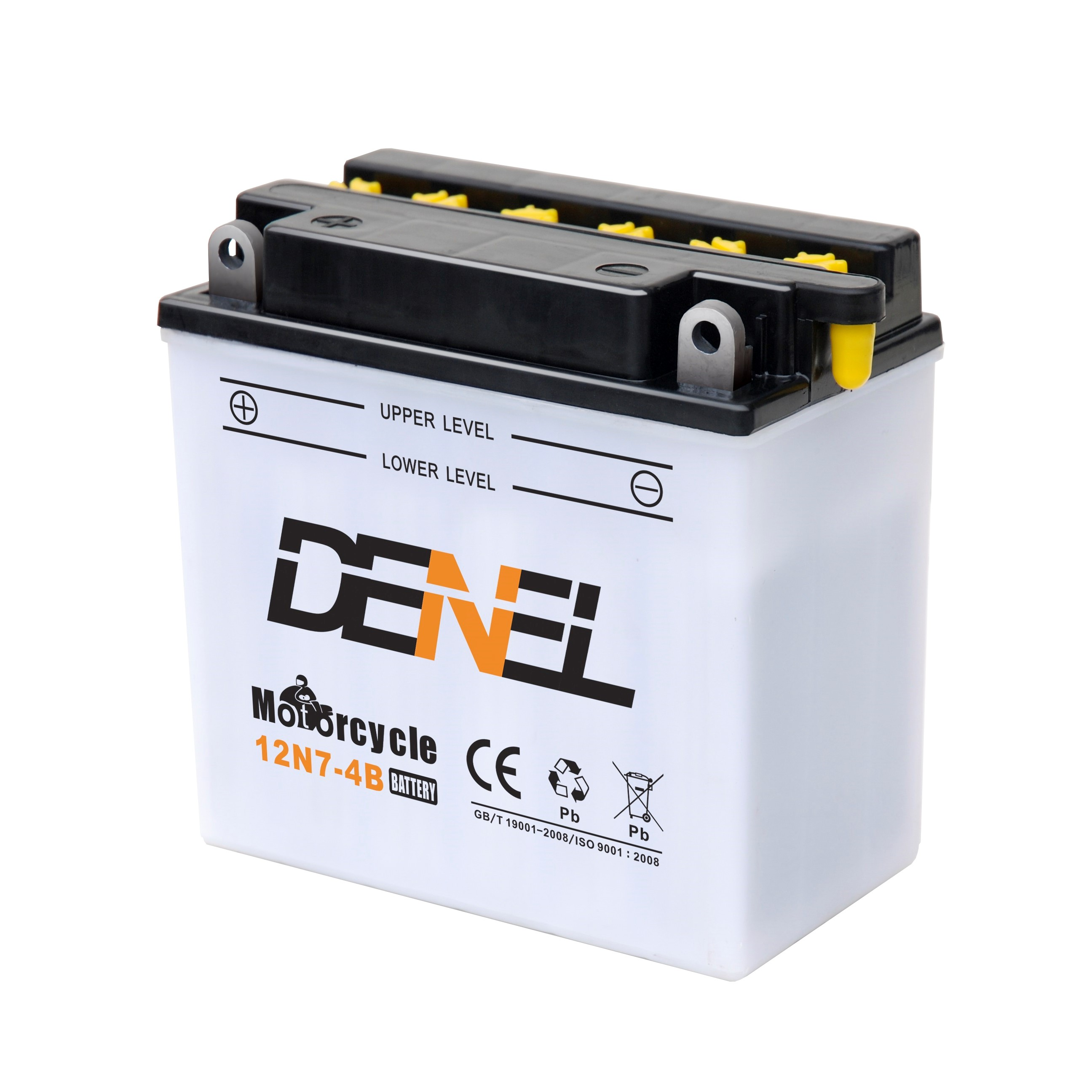 12N7-4B Dry charged Motorcycle battery with separate acid bottle