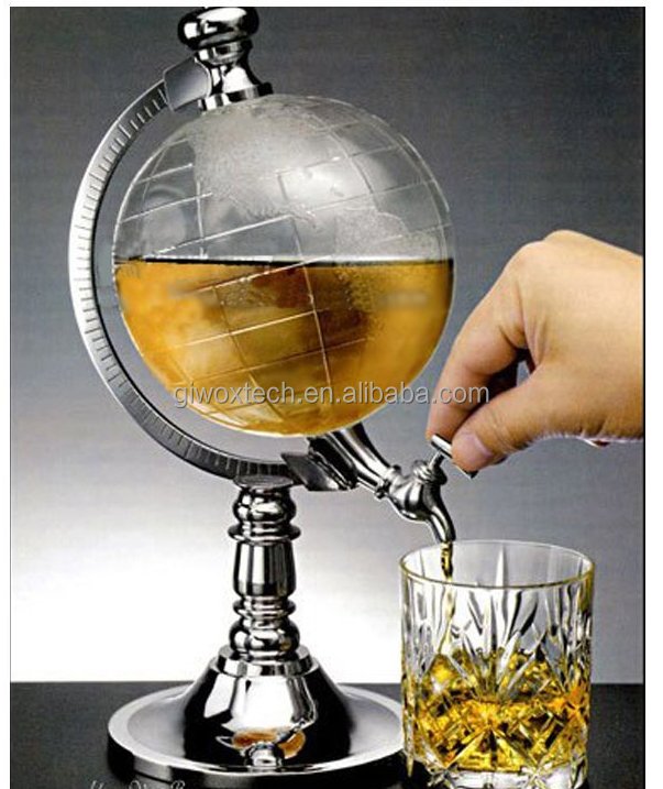 1000cc Globe Shaped Beverage Single Canister Pump Wine Beer Pump liquor dispenser