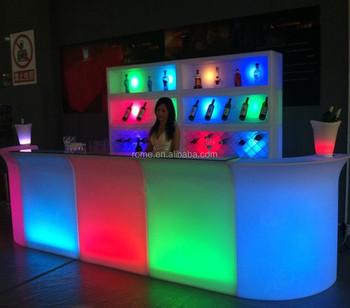 Led Plastic Color Change Illuminated Light Mobile Home Bar Counter Buy Home Bar Counter Illuminated Bar Counter Mobile Bar Counter Product On