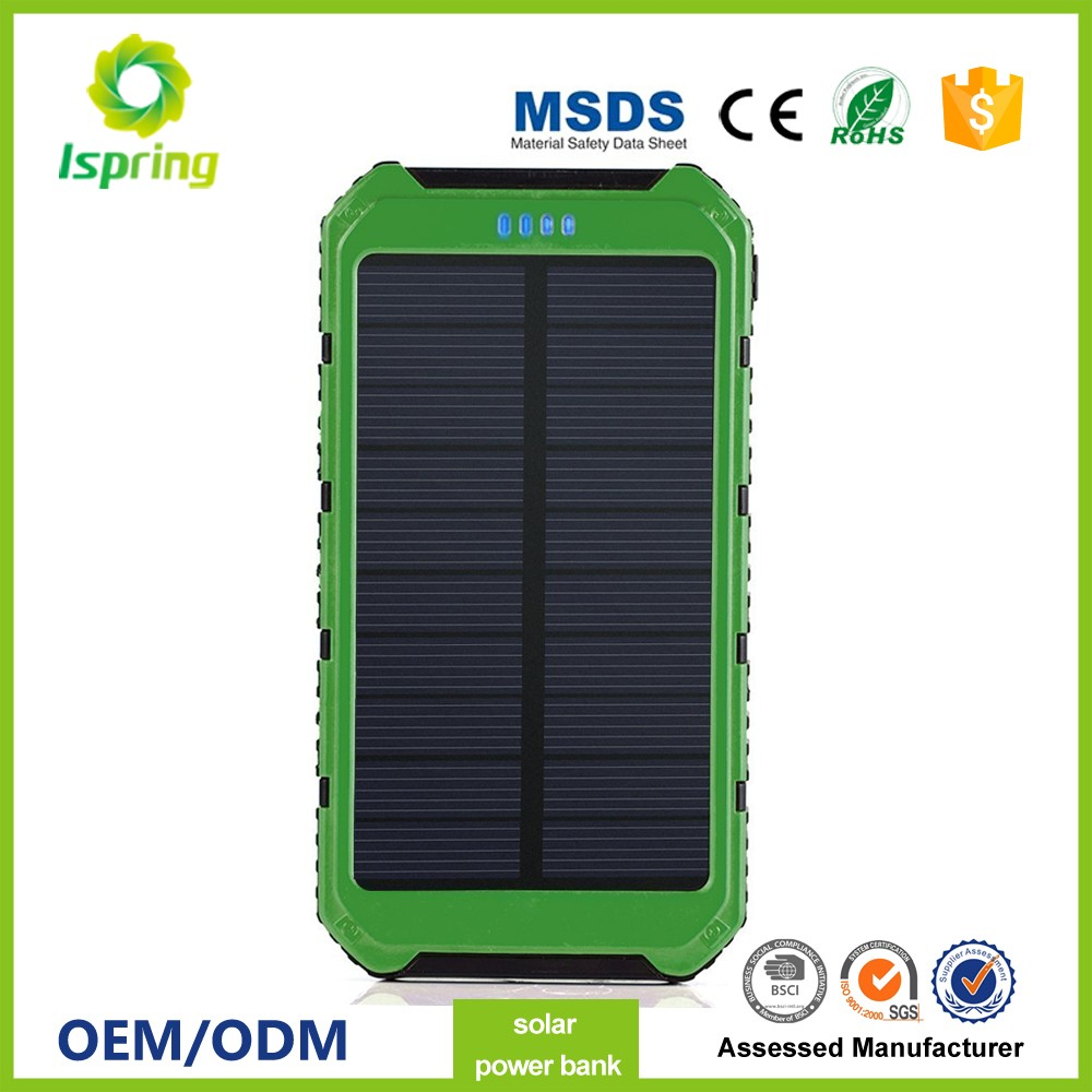 Newly launched portable solar panel charger mobile phone, Solar Power Bank with 8000mah battery