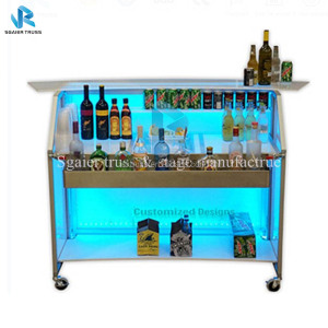 New design portable bar table DJ bar counter folding portable Table