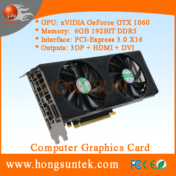 OEM NVIDIA GeForce GTX 1060 6GB GDDR5 PCI <strong>Express</strong> 3.0 Direct X12 Gaming Video Card for Mining