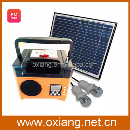 10W solar panel cell 6W 3W solar lantern kit with 2pcs 3W LED bulbs