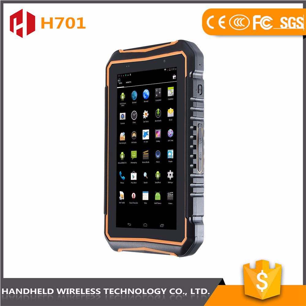Competitive price 7intch rugged handheld wireless ip 65 android 4.4.2 rfid reader best pda available