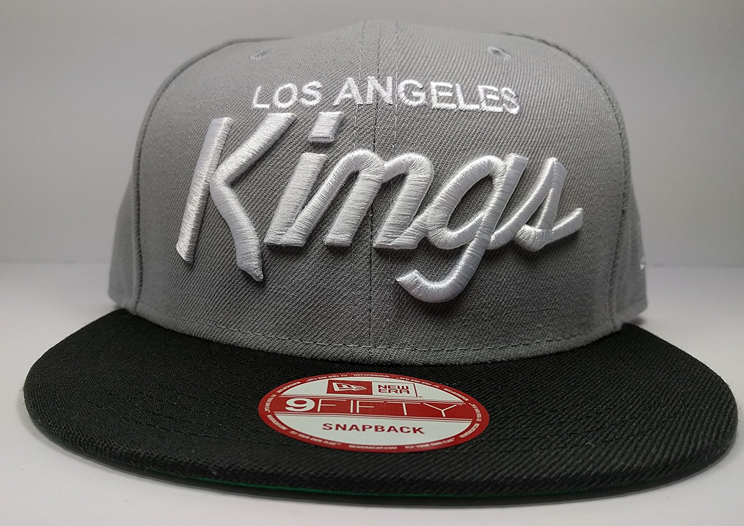 Get Quotations · New Era Los Angeles Kings 9Fifty Charcoal Black Vintage  Script N.W.A Adjustable Snapback Hat NHL 01235b07a967
