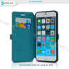 tpu and leather combination slim magnetic case for iphone 6 ,free sample case