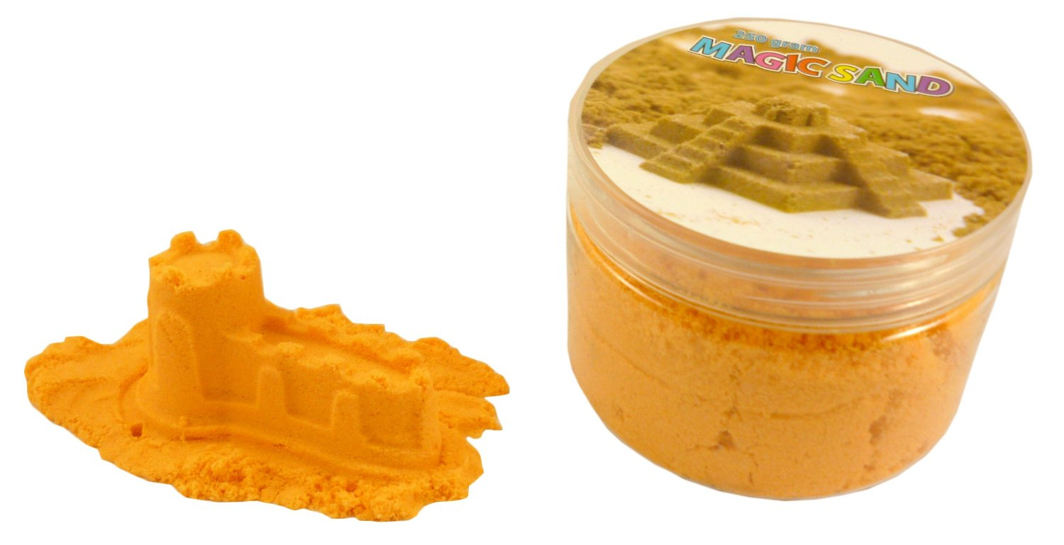Magic Sand Refill - 250g- ORANGE - Play Sand With No Mess! - Sculpture, Mold ...