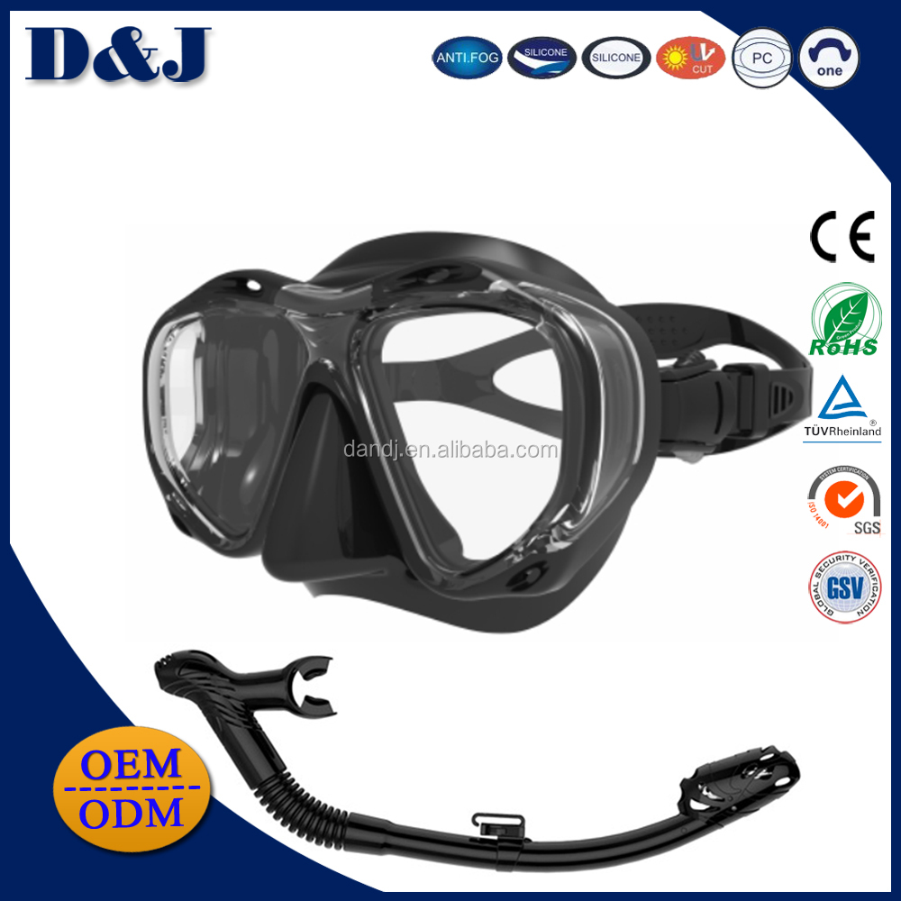 Full Face Scuba Ninjia Tempered Glass PJ Diving Mask With Snorkeling