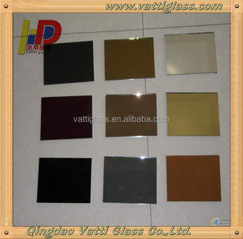 6mm Thick Golden Color Decorative Glass Sheet Use In Wall ... |Decorative Colored Glass Sheets