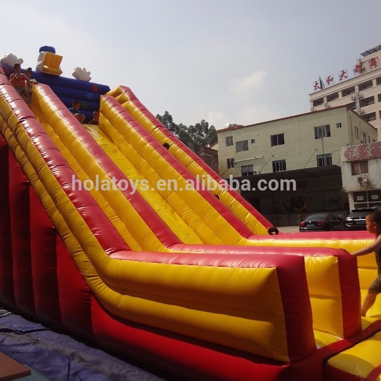Hola yellow giant inflatable water slide for adult