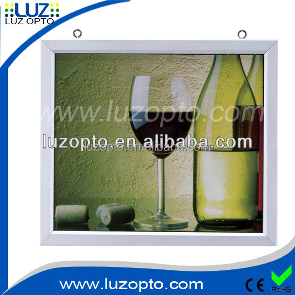 acrylic 2 sided led picture frame, edge-lit photo frame with two picture, lighted pricture frames