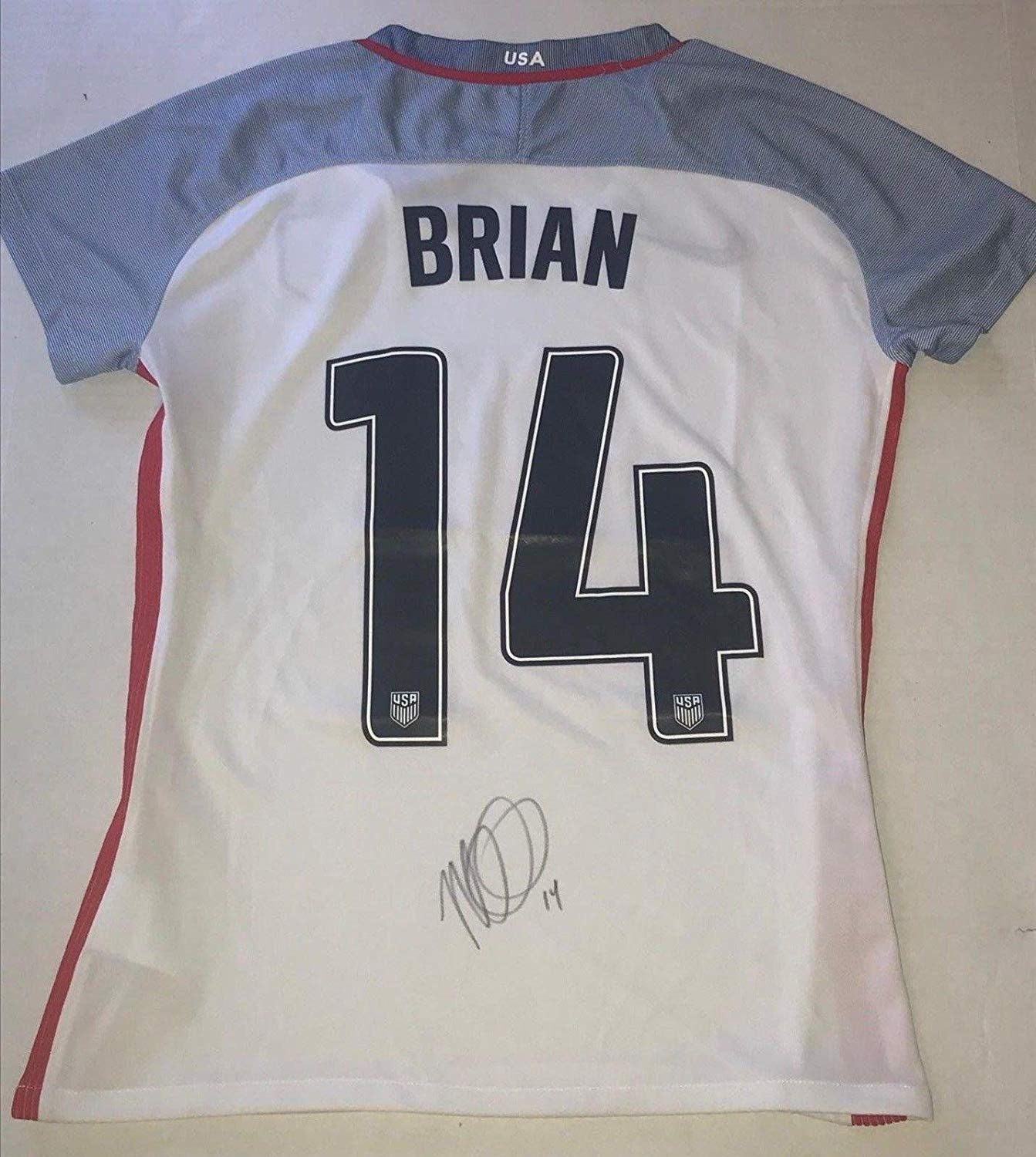 a964cfe2a53 Get Quotations · Morgan Brian USWNT signed Team USA jersey autographed USA  Womens Soccer - Autographed Soccer Jerseys