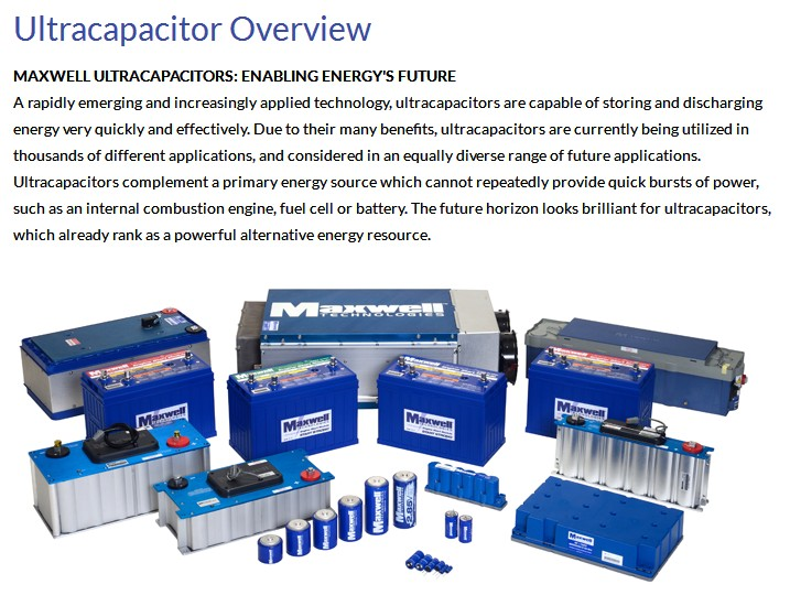 Maxwell Durablue 3000f Super Capacitor Engine Start Stop System Ups Battery  Ultracapacitor - Buy 3000f Super Capacitor,Ups Battery,Engine Start Stop