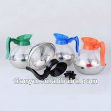 2012 most popular 10 cups stainless steel coffee pot 1800ml with in different