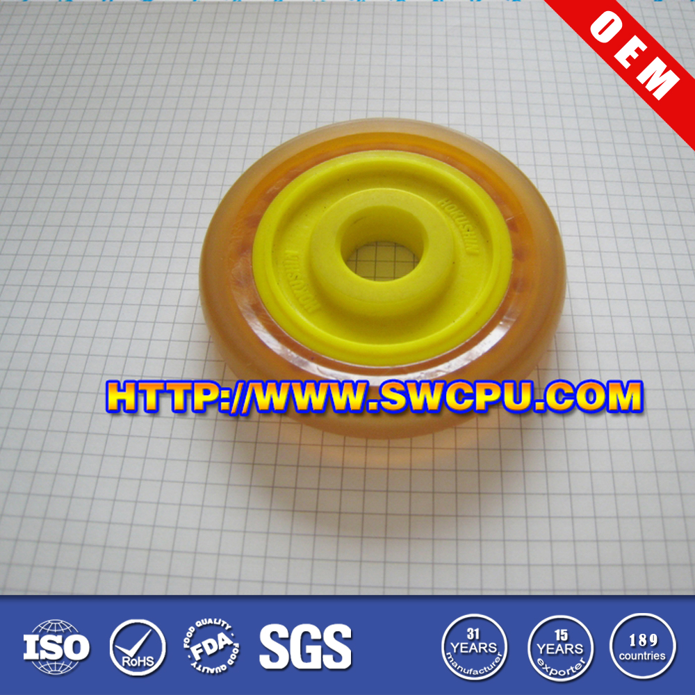 Small colored solid pu wheel for scooters