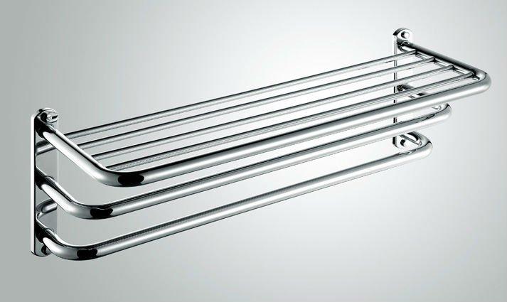 edelstahl handtuch regal drei schichten wand. Black Bedroom Furniture Sets. Home Design Ideas