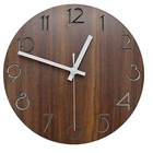 Vintage Arabic Numeral Design Rustic Country Tuscan Style Wooden Decorative Round Wall Clock