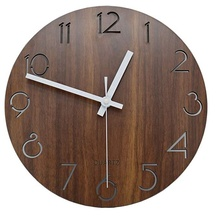 Vintage Chiffre Arabe Design <span class=keywords><strong>Rustique</strong></span> Toscan Décorative En Bois de Style <span class=keywords><strong>Horloge</strong></span> <span class=keywords><strong>Murale</strong></span> Ronde