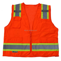 High Reflective safety yellow work wear