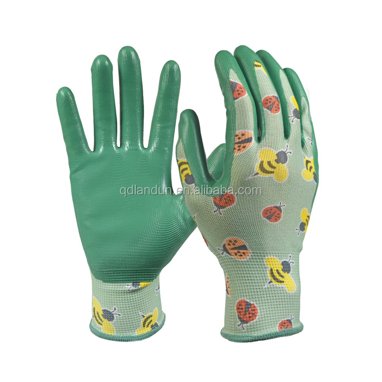 Any color available nitrile coated fabric with nitrile gloves