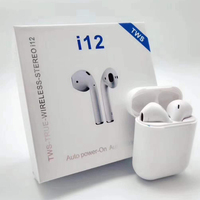 Stereo True Headset TwinS Earbuds Blue tooth 5.0 Headphone Wireless Earphone i12 Tws with Touch Control