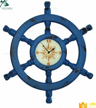 Old Ship Wood Handcrafted Wall Art Decorative Wood Wall Clock