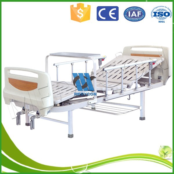 MDK-T313 TWO Function medical manual beds with over-bed table