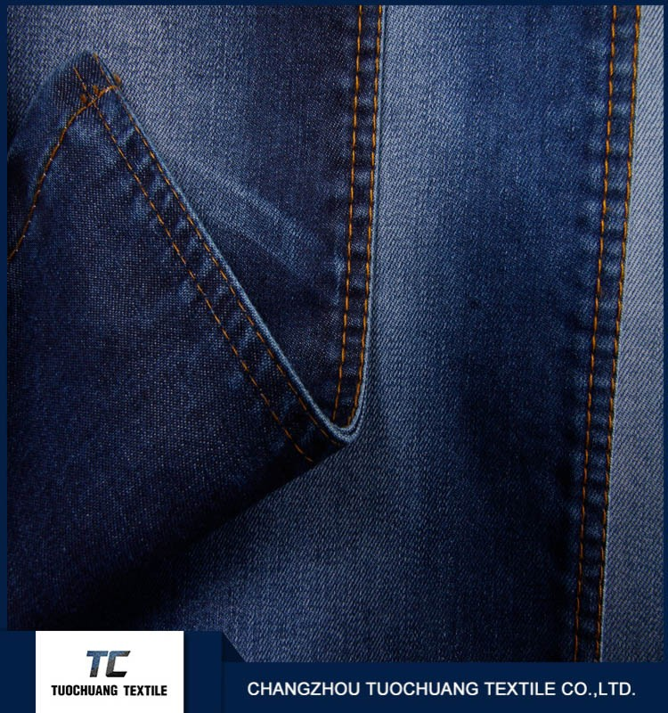 TC 00015 blue denim jeans fabric for Men fashinable exported denim jeans fabric