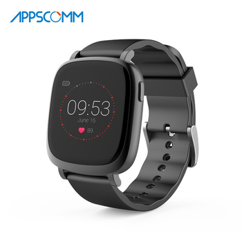 2017 APPSCOMM Smart Watch Bluetooth Waterproof Touch Screen Heart Rate Monitor for Android and IOS Phone