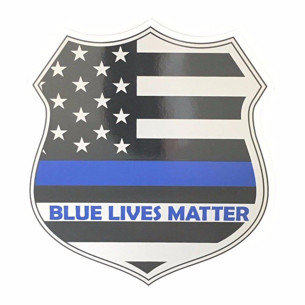 Magnet: Blue Lives Matter Thin Blue Line 6 Inch Shield Magnet