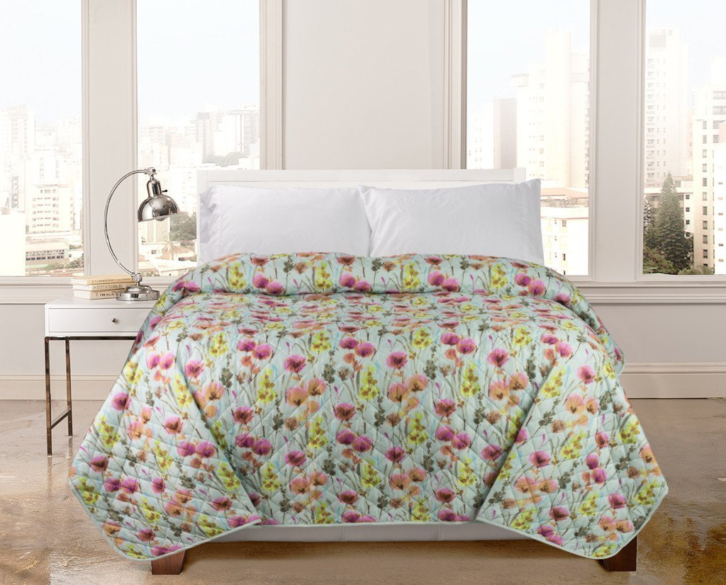Get quotations · regal home bedspreads quilts with modern box stitch design full queen coverlets or