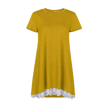 Loose Tops For Woman Summer Casual Yellow Blouse