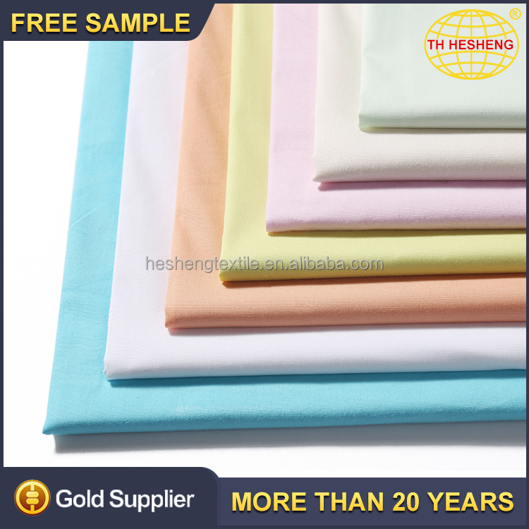 High quality custom plain dyed stock shirting fabric top selling fashion 100% cotton fabric