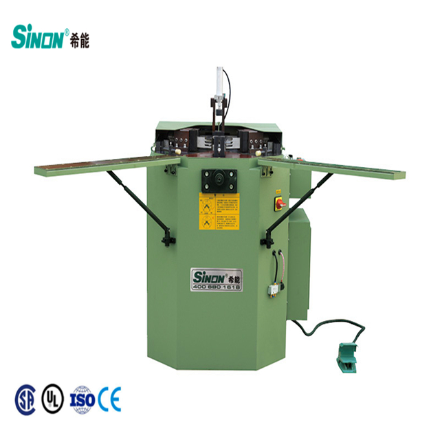 corner crimping machine which locating block can not move down for aluminum window door making with competitive price