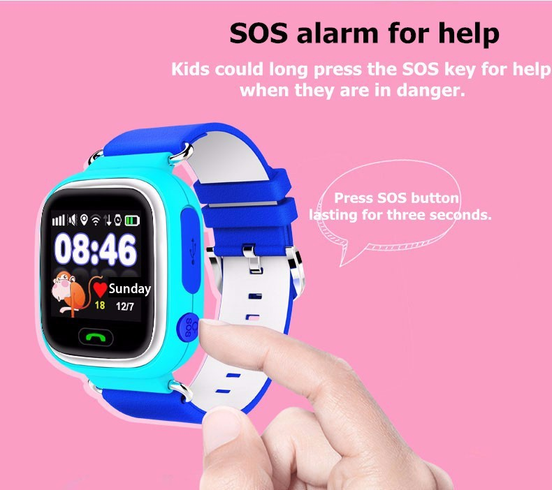 Original Child Q90 Touch Screen Wifi Smart Baby Watch Location