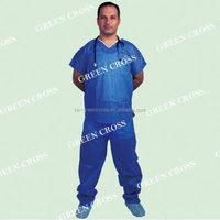 OEM SMS/Spunlace Scrub Suit with V-Shape Neck
