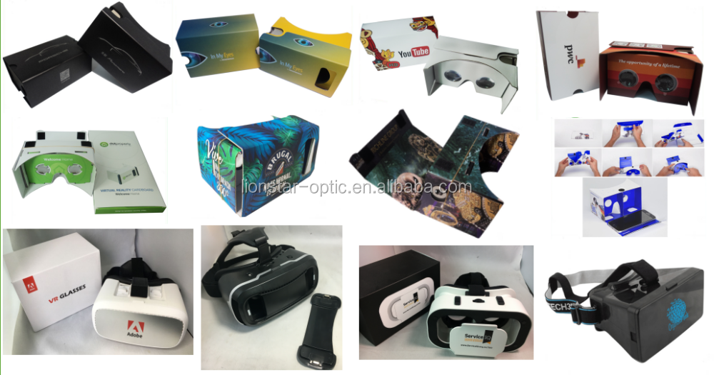 March Promotion 5%-10% Off 3d vr glasses virtual reality google cardboard 2.0 with 37mm biconvex lens