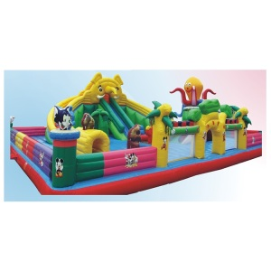 Funny duck theme Inflatable Castle park soft indoor and outdoor playground For kids play