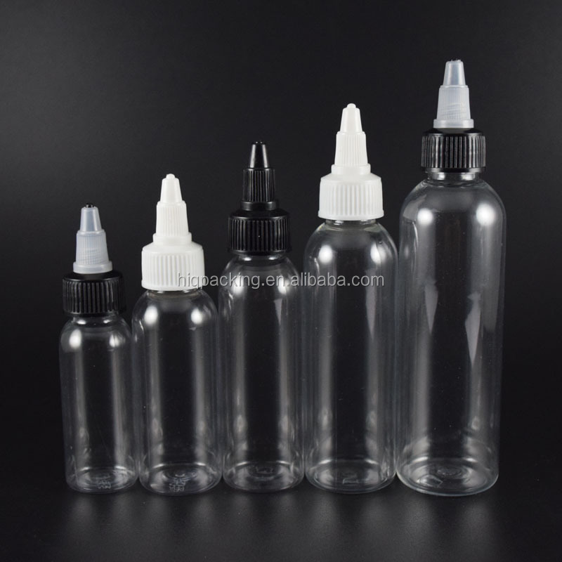 Hotsale 30ml 60ml 120ml twist top bottles for eliquid e juice
