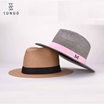 0208b14d8d58c8 Summer Beach White Wide Brim Woven Paper Mens Straw Sun Hats ...