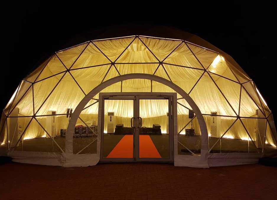 6M 8M 10M Pvc 호텔 룸 하우스 리조트 정원 이글루 Geodesic 글램핑 돔 텐트