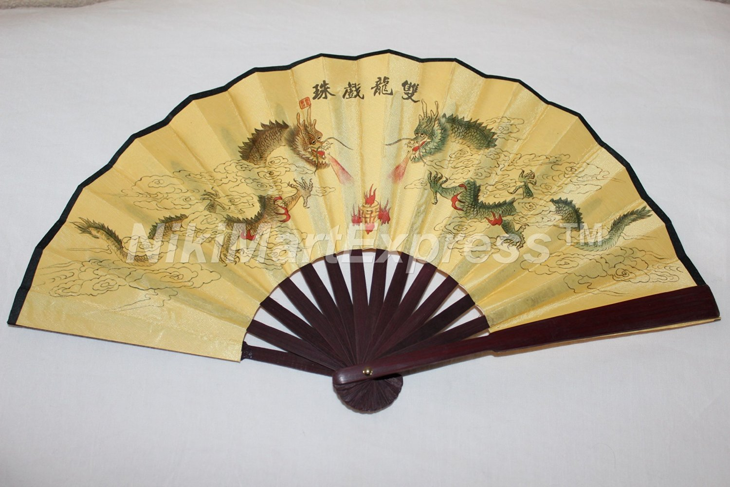 Buy Beautiful Chinese Flowers Bamboo & Silk Hand Folding Fan, Wall ...