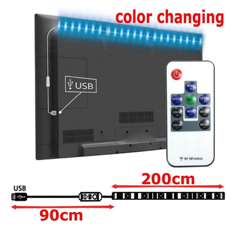 bias lighting ambient USB LED Strip Light Multi Color Changing USB Light with Remote Controller for TV Backlight Background
